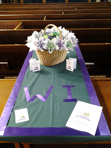 The complete display on the WI table