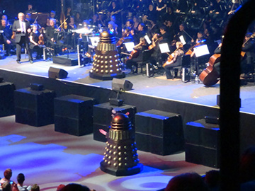 Daleks on stage