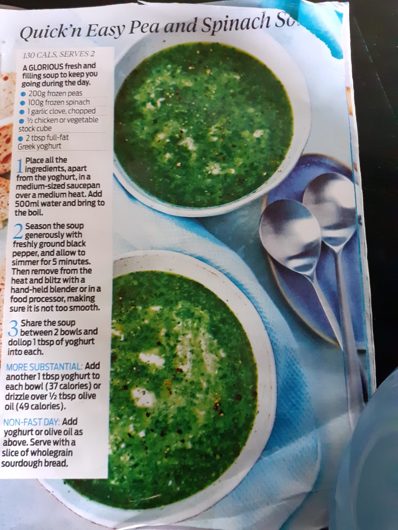 Pea & spinach soup